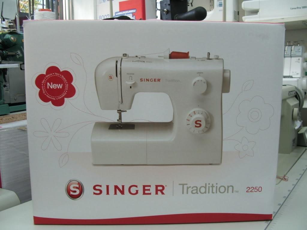 La caja de la singer tradition 2250